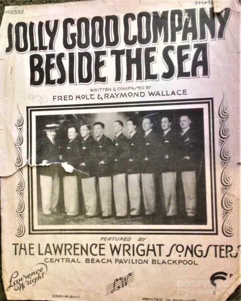 Songsheet Jolly Good Company Beside The Sea