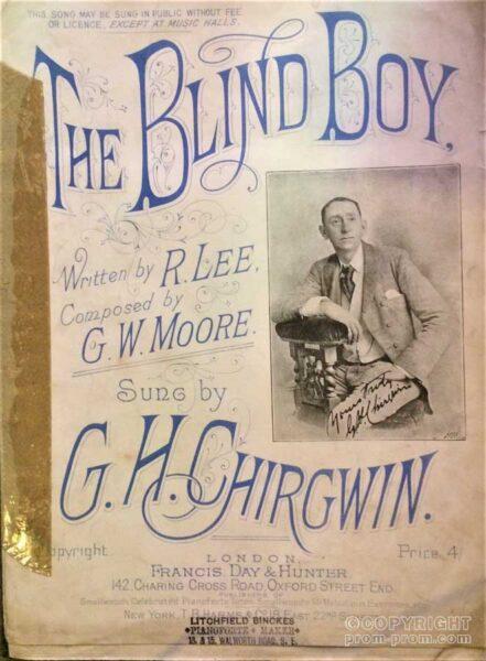 Songsheet The Blind Boy