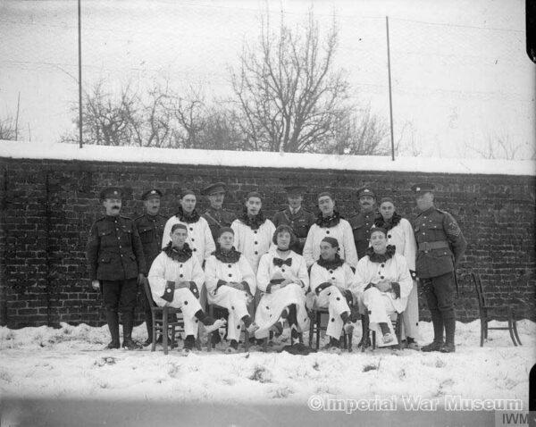 The Concert Party, 18th Battalion, the Gloucestershire Regiment. - IWM archives