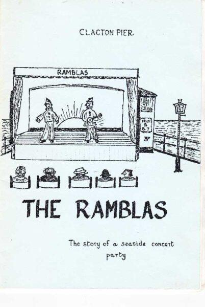 Cartoon Clacton Pier The Ramblas book, 1991