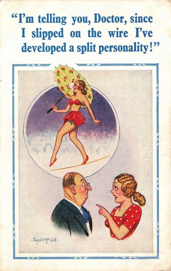 Tightrope postcard