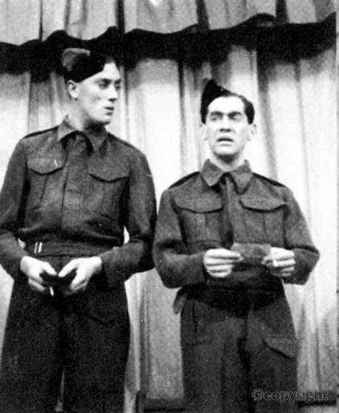 Tony Hancock in RAF Gang Show with Tony Melody