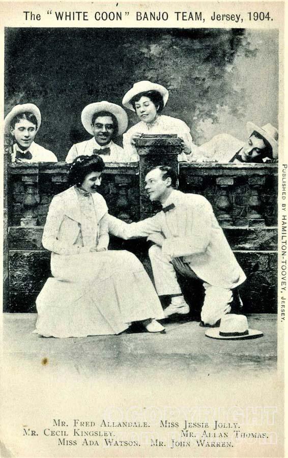 White Coons Banjo Team, Jersey 1904