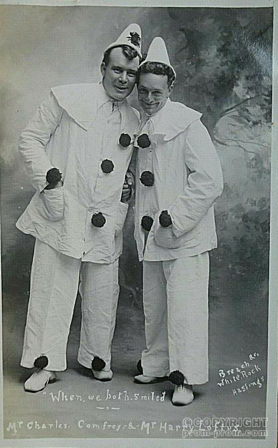 1906 Real Photo Postcard - Mr C Camfrey & Loftus, Pierrots of Hastings, Sussex