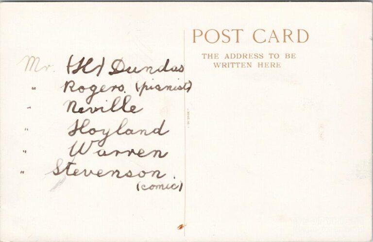 Ernest Hampson's Pierrots Girvan Season 1908a