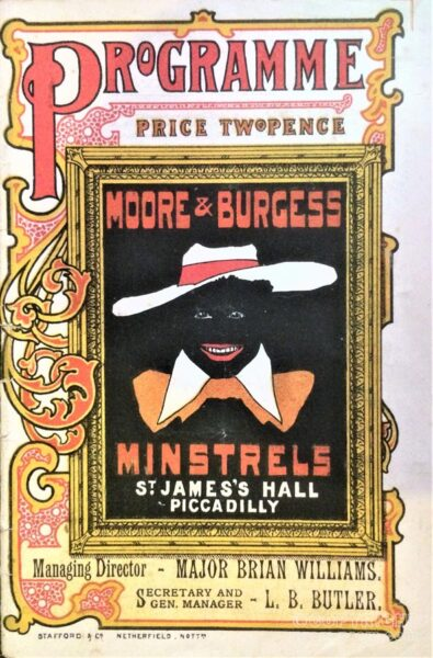 Moore and Burgess Minstrels st James's hall Piccadilly Programme