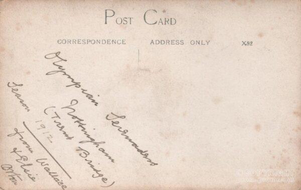 Olympian Serenaders (back of card) 1