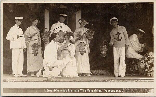 Vancouver BC Stuart Whyte's Pierrots 'The Versatiles'